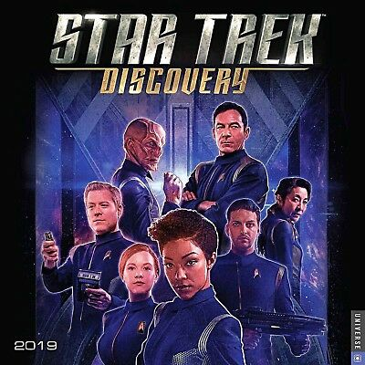 Star Trek Discovery TV Series 12 Month 2019 Photo Wall Calendar NEW SEALED