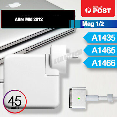 """45W MagSafe 2 T Power Adapter Charger for Apple MacBook Air 11"""" 13"""" A1435 A1465"""