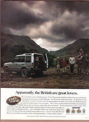 "1997 Range Rover Defender 90 Ad ""Apparently,the British...."" Print Ad"