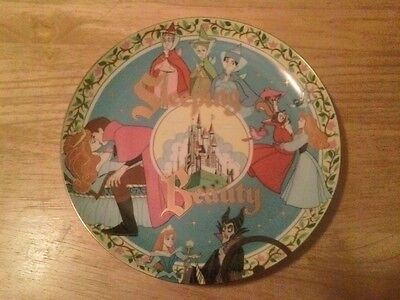 """VINTAGE DISNEY SLEEPING BEAUTY 30th ANNIVERSARY COLLECTOR 10"""" PLATE NEW"""