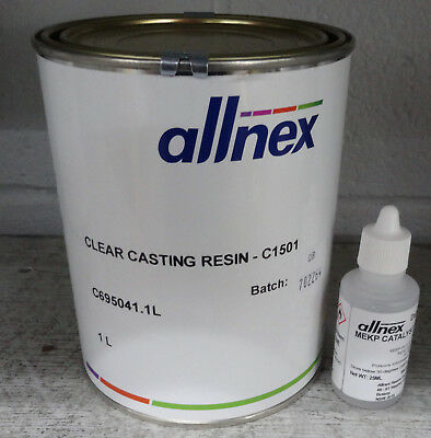 Polyester Clear Casting Resin and Hardener - 4Ltr
