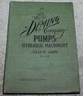 Antique The Deming Company Pumps Hydraulic Machinery No 22 Catalog 1907