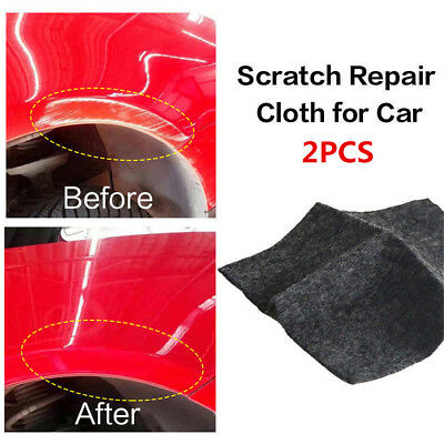 2pcs Amazing Removing scratches SCRATCH ERASER Magical Cloth Clear Coat Fast Fix