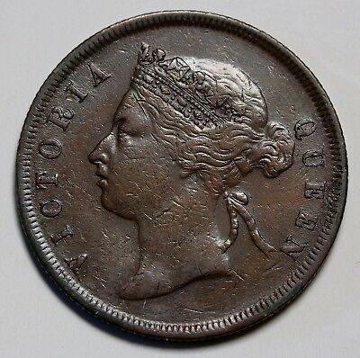 1891 Straits Settlements Cent KM# 16 Queen Victoria Coin