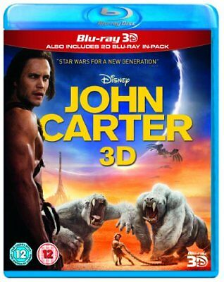 John Carter (Blu-ray 3D / Blu Ray 2D) [Region Free] -  CD 3MVG The Fast Free