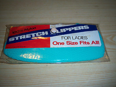 Vintage 100% Nylon Stretch Slippers for Ladies - ONE SIZE FITS ALL - SNP - NOS