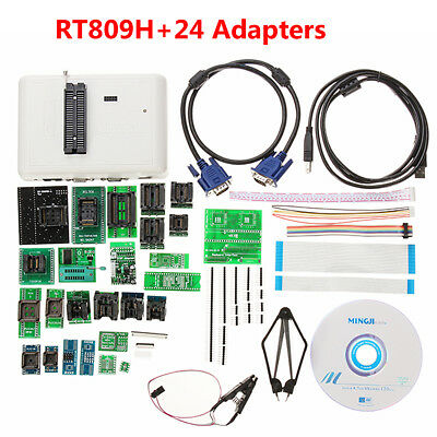 RT809H Programmer EMMC-NAND Flash +24 Adapters With Cables EMMC-NAND