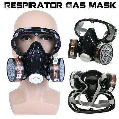 Respirator Industrial Safety Chemical Gas Mask Goggles Protect Filter Anti-Dust