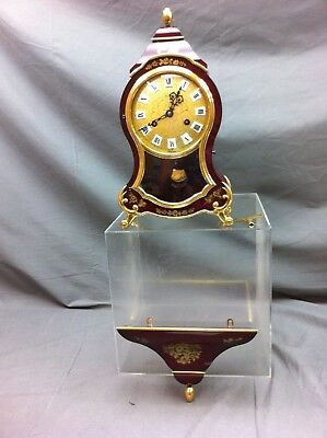 Comtesse swiss made burgundy bracket clock ##???211JM