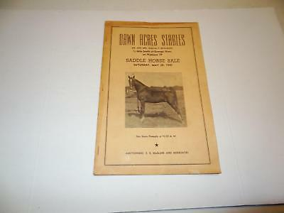 1949 Dawn Acres Stables,Oswego,Ks Saddle Horse Sale Mr.&Mrs Martin P.McNamara
