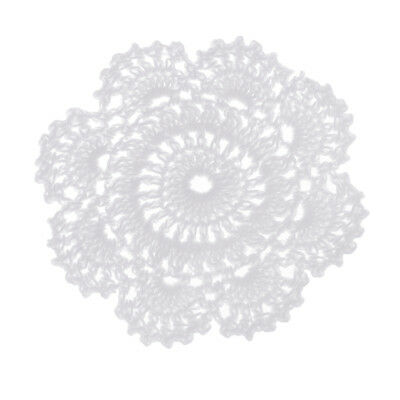 Handmade Crochet Doilies Placemat Round Cotton Lace Doily Table Mug Cup Mats