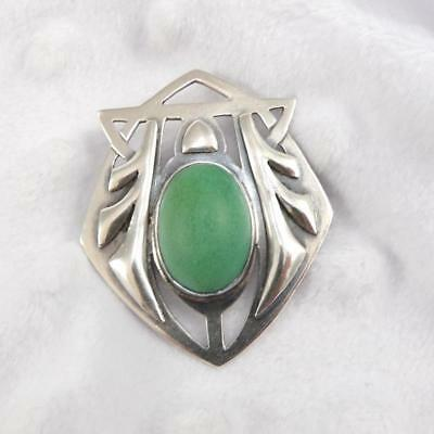 Vtg Antique Sterling Silver Chicago School of Silver Arts & Crafts Pin LDF26