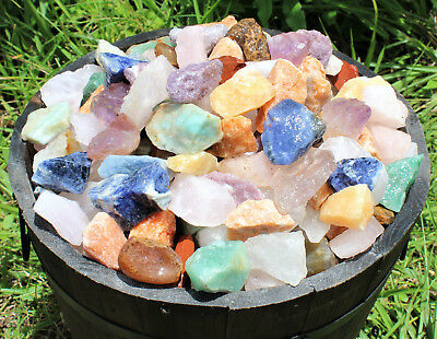 1/2 lb Bulk Lot Brazil Mix Large Bulk Natural Rough Tumbler Rocks Stones 8 oz
