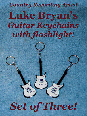 Guitar-shaped Keychain, with flashlight, by Country-Music Superstar Luke Bryan