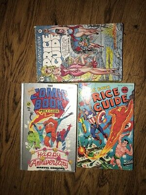 Vintage Lot 3 Overstreet Comic Book Price Guides No 8-10-16 Anniversary Edition