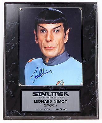 Mr SPOCK Leonard Nimoy Autographed Signed Picture Official Paramount 1994 LE