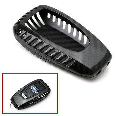 Real Carbon Fiber Key Fob Protective Cover For Subaru BRZ WRX Legacy Outback XV