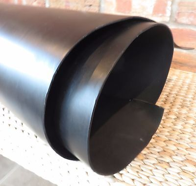 2 mm thick  BLACK  VEG TAN LEATHER - SPANISH SHOULDER - CHOOSE YOUR SIZE