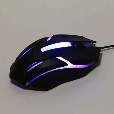 Design Light LED 1200 DPI USB Wired Optical Gaming Mice Mouse For PC Laptop