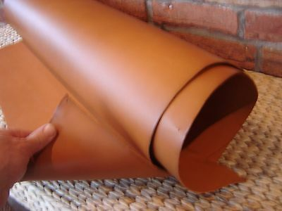 2 mm thick  LONDON  TAN  VEG TAN LEATHER - SPANISH SHOULDER - CHOOSE YOUR SIZE
