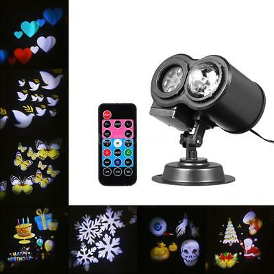 LED Projector Light Water Wave Lamp with 12pcs Dynamic Slides Party Decor L8D3