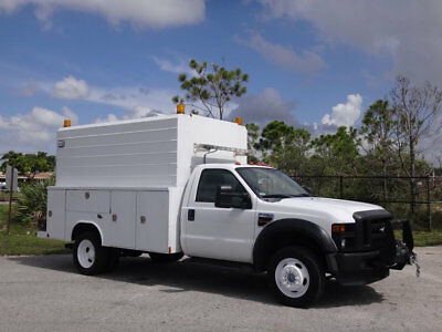 Ford Super Duty F-450 DRW Cab-Chassis Service Utility KUV Body 2008 Ford F450 KUV Service Utility Truck Diesel FL Truck 1 Owner F-450 2WD