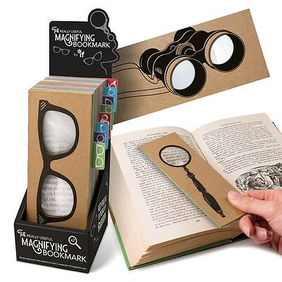 Quirky Retro Magnifying Bookmark Binocular Spectacle Glasses Academic Eyeglass
