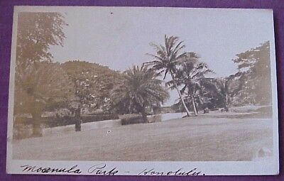 1920's Moanalua Park Honolulu TH Hawaiian Islands AZO RPPC