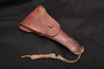 Rare WWI Warren Leather Goods 1917 US Marked 1911 Holster Brown  Brass Hanger