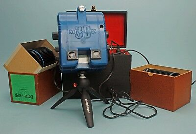 Stereo 3D ROTO-VUER Realist Multi Rotary VIEWER 3 Carriers 180 Slides Case Power
