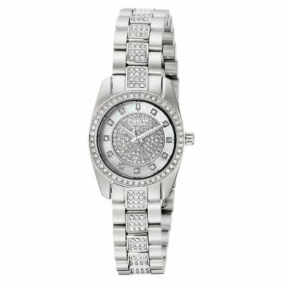 Bulova 96L253 Crystal Collection Mother of Pearl Dial Women's Crystal Watch