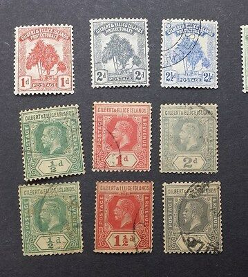 GILBERT & ELLICE ISLANDS 1911 - 22 0.5d to 2d SG 9 // 30 Sc 8 // 30 used
