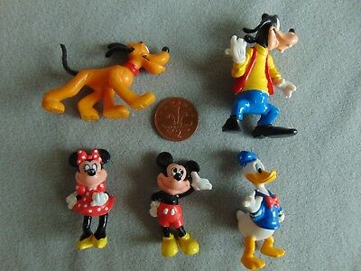Disney 1980s Figures Donald Duck Mickey Mouse Pluto Bullyland  Bully Land