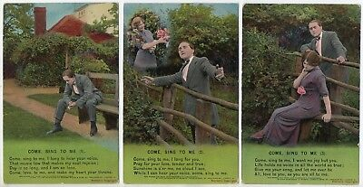 Bamforth Song Card * Come, Sing To Me * Set Of Three 4703 * B138