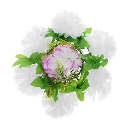 Artificial Funeral Memorial Grave Tribute Wreath Chrysanthemum Silk Flower Panel