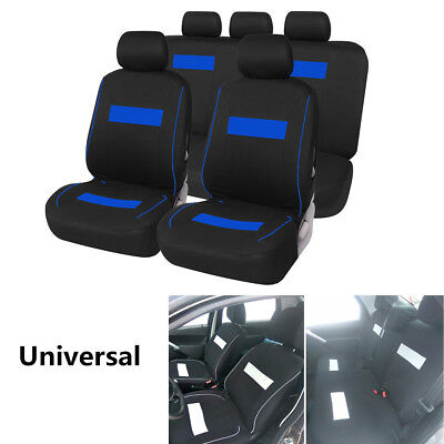 Car Seat Covers Protector Cushion Car Interior Accessories Polyester Black+Blue