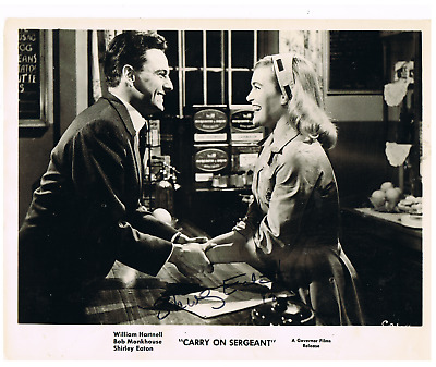 James Bond Goldfinger SHIRLEY EATON-Carry Ons Signed Carry On Sergeant 8x10 pic