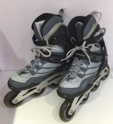 Women Salomon Roller Blades Skates In Line Skating Uk 6.5 Us 8Eu 43.33 25.5  E77