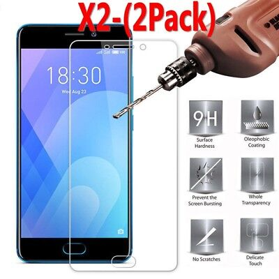 2-PACK 9H Tempered Glass Film Screen Protector Cover For Meizu M5 M6 M5Note M6