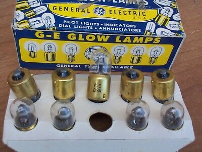 1x  B8A G.E  Glow Lamps  for RADIO RECEIVER BC 312 - Military USA