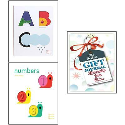 Xavier Deneux collection TouchThinkLearn ABC numbers 2 Books with gift journal