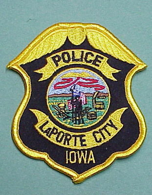 LaPORTE CITY  IOWA  IA   POLICE PATCH   FREE SHIPPING!!!