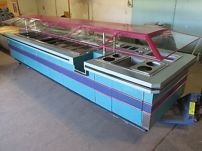 """amtekco"" H.d. Commercial 218""l,18 Cold Wells  & 4 Hot Wells Mega Buffet Table"
