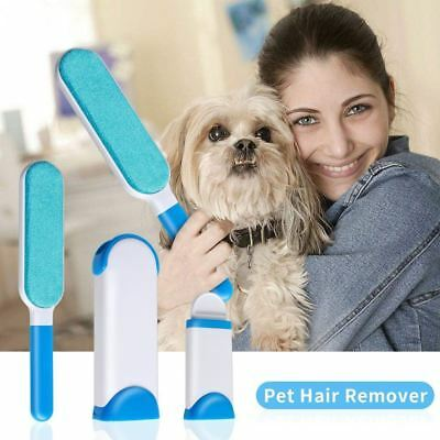 US Magic Dog Fur Pet Hair Lint Remover Cloth Sofa Fabric Brusher Cleaner Travel