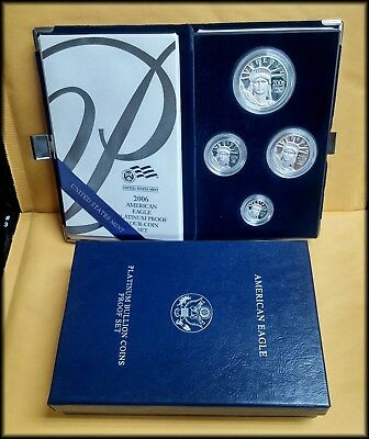 2006 Platinum American Eagle 4 pc PROOF Set w/box and COA - BINo