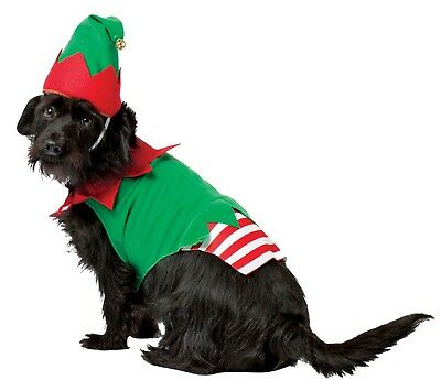 Rasta Imposta Santa's Helper Hat One Piece Elf Dog Pets Christmas Costume GC5028