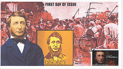 Jvc Cachets - 2017 Henry David Thoreau First Day Cover Fdc L.e. Of 20 Style #2