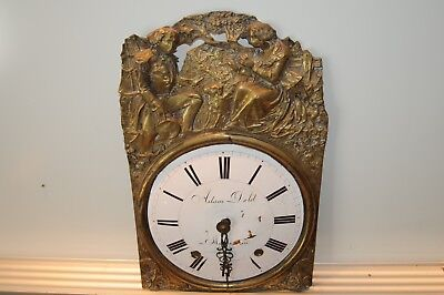 Antique Clock Dial Face (Adam Dold) Decorative Ceramic Face And Thin Copper Old.