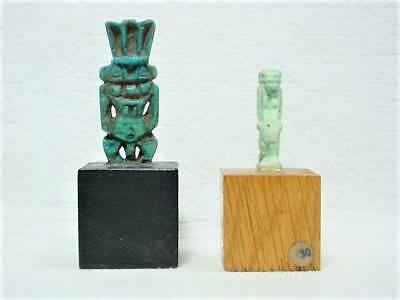NobleSpirit NORESERVE(3970) Ancient Egyptian Faience Bes & Sekhmet 7th-2nd  BC