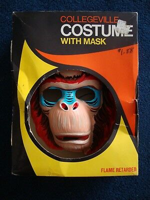 1960's/70's Collegeville The Ape Halloween Costume Planet of the Apes Knock off